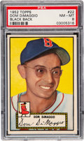 Baseball Cards:Singles (1950-1959), 1952 Topps Dom DiMaggio (Black Back) #22 PSA NM-MT 8 - Only Two Higher. ...