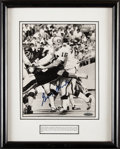 Autographs:Photos, George Blanda Signed & Framed Photograph, Upper Deck Authenticated...