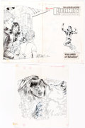 Rick Hoberg, Tim Burgard, and Jimmy Janes Eternity Smith #5 Cover and Complete Story Original Art and Color Guides Group...