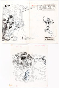 Rick Hoberg, Tim Burgard, and Jimmy Janes Eternity Smith #5 Cover and Complete Story Original Art and Color Guides... (T...
