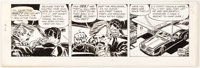 Frank Robbins Johnny Hazard Daily Comic Strip Original Art dated 6-16--1969 (King Features Syndicate, 1969)