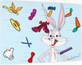 """Memorabilia:Print, """"A Hare Raising Experience"""" Bugs Bunny Deluxe Limited Edition Print on Metal #DLX9/10 (Warner Brothers, 1999)...."""