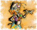 """Memorabilia:Print, Dick Duerrstein """"Aloha Daffy"""" Daffy Duck Limited Deluxe Edition Giclée Print #26/50 (Warner Brothers, 2007)...."""