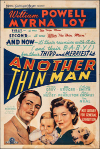"Another Thin Man (MGM, 1940). Folded, Very Good/Fine. Australian One Sheet (27"" X 40""). Mystery"