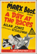"""Movie Posters:Comedy, A Day at the Races (MGM, 1937). Folded, Very Fine-. Australian One Sheet (27"""" X 40""""). Al Hirschfeld Artwork. Comedy.. ..."""