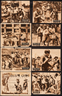 """Black Gold & Other Lot (Norman, 1928). Good. Lobby Card Set of 8, Lobby Cards (5) (Untrimmed: 11"""" X 14""""..."""