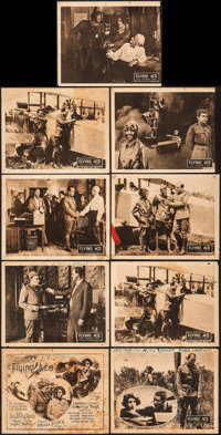 """The Flying Ace (Norman, 1926). Very Good. Lobby Card Set of 8, Lobby Card (11"""" X 14""""), & Uncut Pressbo..."""