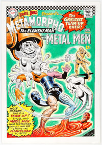 Ramona Fradon and Joe Giella Brave and the Bold #66 Cover Re-creation Original Art (undated)