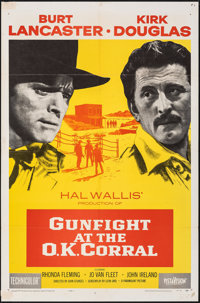 "Gunfight at the O.K. Corral (Paramount, 1957). Folded, Fine/Very Fine. One Sheet (27"" X 41""). Western"