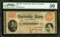 Confederate Notes:1861 Issues, T24 $10 1861 PF-7 Cr. 161 PMG About Uncirculated 50.. ...