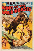 Movie Posters:Western, King of the Wild Horses (Columbia, 1933). Folded, Very Fin...