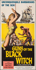 "Guns of the Black Witch (American International, 1961). Folded, Fine/Very Fine. Three Sheet (41"" X 78.5""). Adv..."
