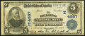 Reading, PA - $5 1902 Plain Back Fr. 603 The Reading National Bank Ch. # (E)4887 Fine