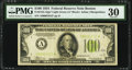 Fr. 2152-A* $100 1934 Light Green Seal Federal Reserve Note. PMG Very Fine 30