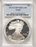 Modern Bullion Coins, 1986-S $1 Silver Eagle PR70 Deep Cameo PCGS. PCGS Population: (4276). NGC Census: (3565). ...