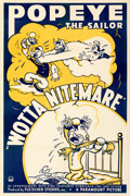 "Movie Posters:Animation, Popeye The Sailor in ""Wotta Nitemare"" (Paramount, 1939). F..."