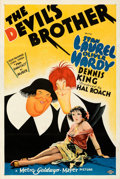 "Movie Posters:Comedy, The Devil's Brother (MGM, 1933). Fine+ on Linen. One Sheet (27"" X 41"") Style D, Al Hirschfeld Artwork.. ..."