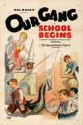 Movie Posters:Comedy, School Begins (MGM, 1928). Very Fine- on Linen. On...