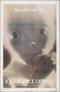 Movie Posters:Science Fiction, 2001: A Space Odyssey (MGM, R-1974). Folded, Very Fine-.