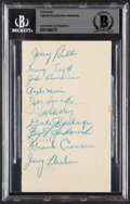 Autographs:Post Cards, 1948-49 Philadelphia Warriors Team Signed Postcard Beckett Authentic....