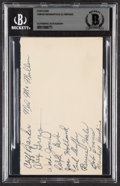 Autographs:Post Cards, 1949-50 Indianapolis Olympians Team Signed Postcard Beckett Authentic....