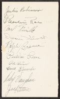 Autographs:Post Cards, 1948 Brooklyn Dodgers Multi-Signed Postcard. Offer...