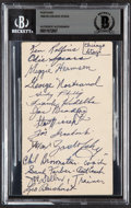 Autographs:Post Cards, 1949-50 Chicago Stags Signed Postcard....