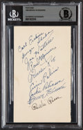 Autographs:Post Cards, 1948 Brooklyn Dodgers Signed Postcard. Offered is...