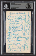 Autographs:Post Cards, 1948 Philadelphia Athletics Signed Postcard Offere...