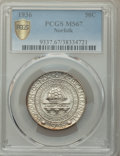 Commemorative Silver, 1936 50C Norfolk MS67 PCGS. PCGS Population: (1186/212 and 85/14+). NGC Census: (704/95 and 28/5+). CDN: $350 Whsle. Bid fo...