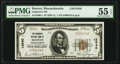 Boston, MA - $5 1929 Ty. 1 Engineers National Bank Ch. # 12540 PMG About Uncirculated 55 EPQ