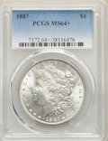 1885-O $1 MS64+ PCGS. This lot will also include the following: 1886 $1 MS64+ PCGS; and (2)1887 $1 MS64+ PCGS.<...