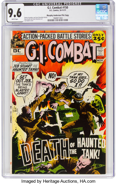 G.I. Combat #150 Murphy Anderson File Copy  (DC, 1971) CGC NM+ 9.6 White pages....