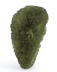 Moldavite Moldau River Valley Czech Republic 2.05 x 1.17 x 0.45 inches (5.21 x 2.96 x 1.15 cm)