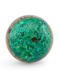 Malachite Sphere Arizona, USA 1.75 inches (4.44 cm) in diameter