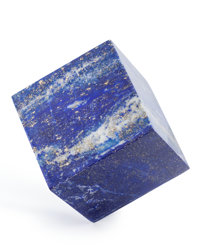 Lapis Cube Afghanistan 2.31 x 2.23 x 2.29 inches (5.88 x 5.67 x 5.81 cm)
