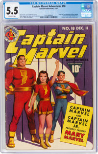 Captain Marvel Adventures #18 (Fawcett Publications, 1942) CGC FN- 5.5 Off-white pages