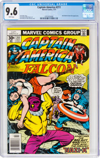 Captain America #211 (Marvel, 1977) CGC NM+ 9.6 White pages
