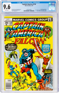 Captain America #218 (Marvel, 1978) CGC NM+ 9.6 White pages