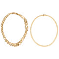 Estate Jewelry:Necklaces, Gold Necklaces . ... (Total: 2 Items)