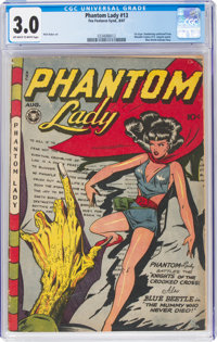 Phantom Lady #13 (Fox Features Syndicate, 1947) CGC GD/VG 3.0 Off-white to white pages