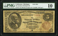 Coldwater, MI - $5 1882 Brown Back Fr. 472 The Southern Michigan National Bank Ch. # 1924 PMG Very Good