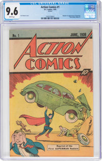 Action Comics #1 (1976 reprint w/10¢ cover price) (DC, 1976) CGC NM+ 9.6 White pages