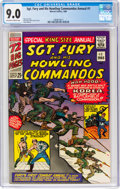 Silver Age (1956-1969):War, Sgt. Fury and His Howling Commandos Annual #1 (Marvel, 1965) CGC VF/NM 9.0 Off-white to white pages....