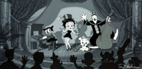 Showtime Betty Boop and Bimbo, Pudgy and Koko Limited Edition Cel PP #28/40 (King Features/Fleischer Studio, 1992)