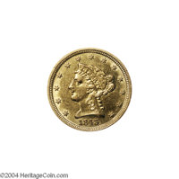 1843-D $2 1/2 Small D AU55 Lightly Cleaned Uncertified. Variety 4-F. Unlike the 1843-C and 1843-O Quarter Eagles, only t...
