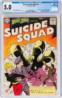 The Brave and the Bold #25 Suicide Squad (DC, 1959) CGC VG/FN 5.0 Off-white to white pages