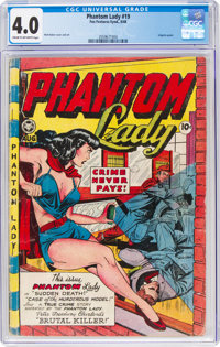 Phantom Lady #19 (Fox Features Syndicate, 1948) CGC VG 4.0 Cream to off-white pages