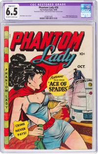 Phantom Lady #20 (Fox Features Syndicate, 1948) CGC Apparent FN+ 6.5 Slight (B-1) Off-white to white pages