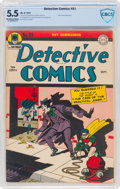 Golden Age (1938-1955):Superhero, Detective Comics #91 (DC, 1944) CBCS FN- 5.5 Off-white to white pages....